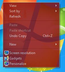 Moo0 TransparentMenu screenshot