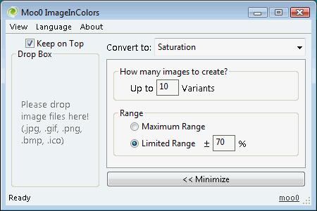 Moo0 ImageInColors screenshot